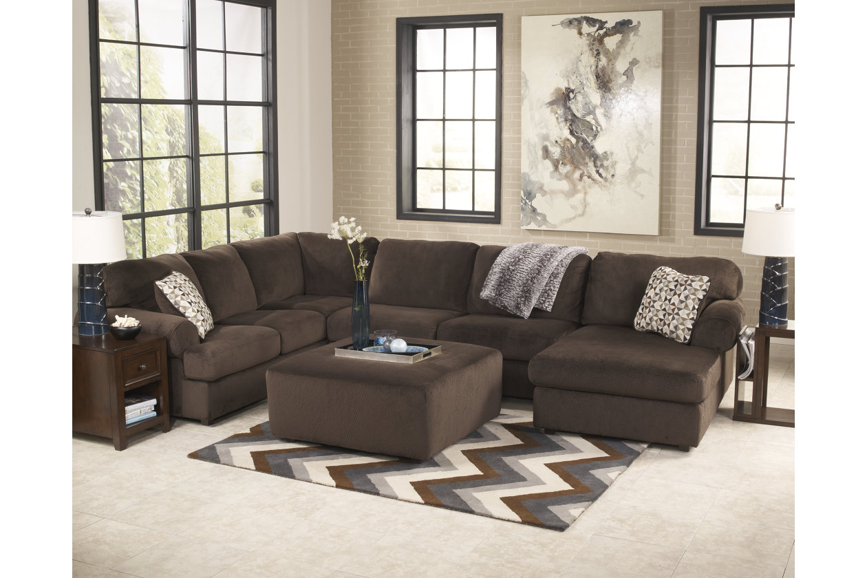 pc leather dune jessa by place ashley sectional furniture