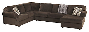 Jessa Place 3-Piece Sectional, Chocolate, large