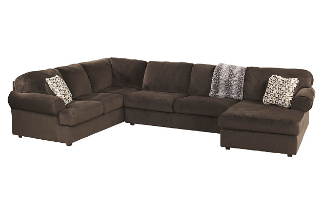 Ashley Furniture Sectional Chocolate jessa place 3-piece sectional | ashley furniture homestore