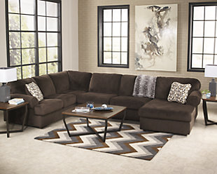 Jessa Place 3-Piece Sectional, Chocolate, rollover