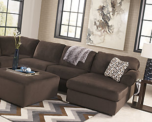 Jessa Place Ottoman, Chocolate, large