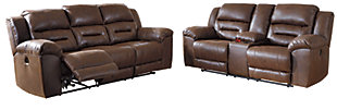 Stoneland Sofa and Loveseat, Chocolate, large
