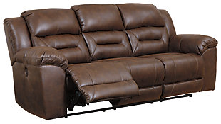 Stoneland Power Reclining Sofa, Chocolate, large