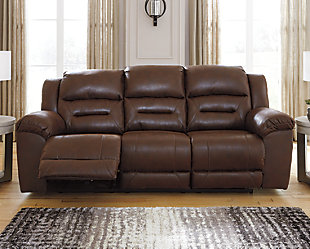 Stoneland Power Reclining Sofa, Chocolate, rollover