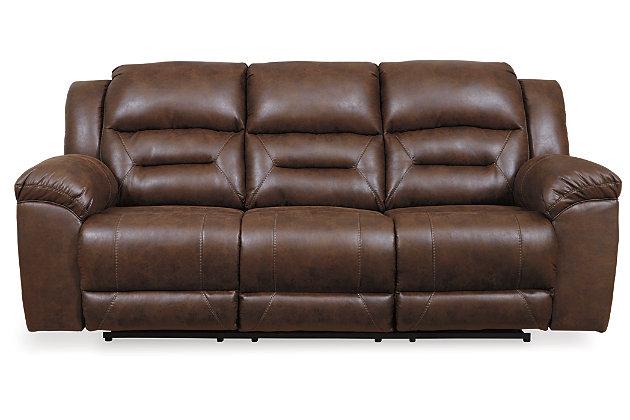 Stoneland Power Reclining Sofa, Chocolate, large