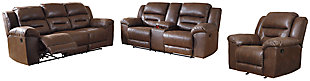 Stoneland Sofa, Loveseat and Recliner, Chocolate, rollover
