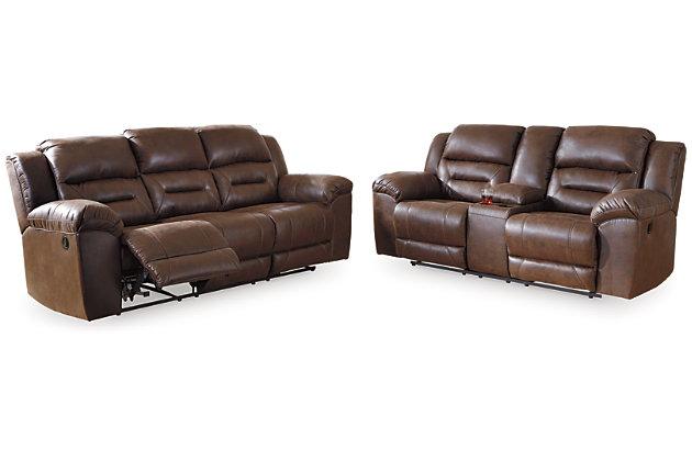 Stoneland Sofa and Loveseat, Chocolate, large