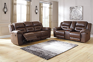 Stoneland Sofa and Loveseat, Chocolate, rollover