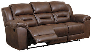 Stoneland Reclining Sofa, Chocolate, rollover