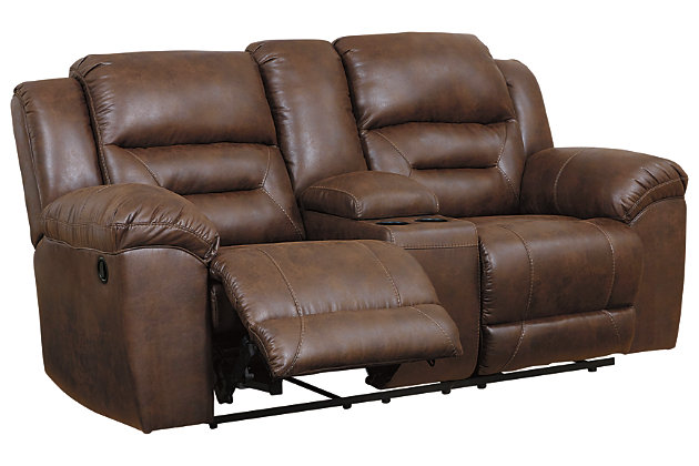 Stoneland Sofa, Loveseat and Recliner, Chocolate, large