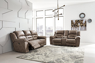 Stoneland Sofa and Loveseat, Fossil, large