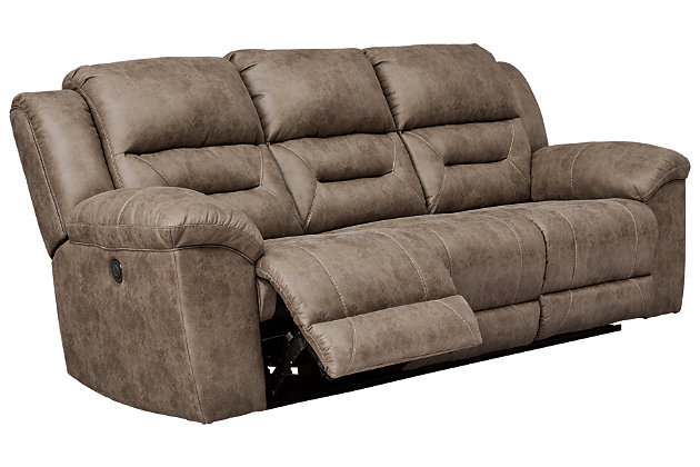 Stoneland Power Reclining Sofa, Fossil, large