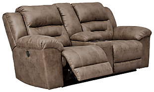 Stoneland Power Reclining Loveseat with Console, Fossil, large