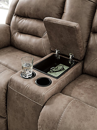 Stoneland Power Reclining Loveseat with Console, , large