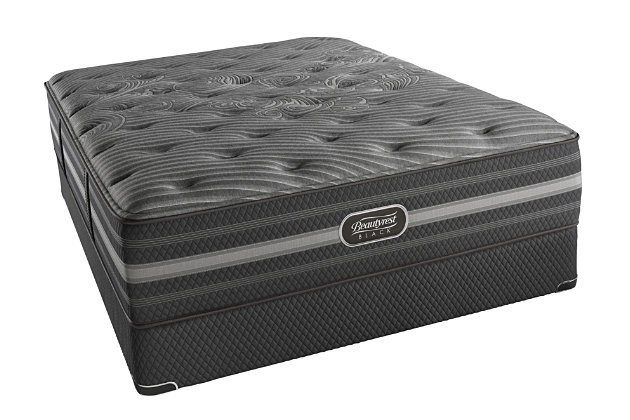 Beautyrest Black Beautyrest Black Mariela Plush Queen Mattress, Black/Gray, large