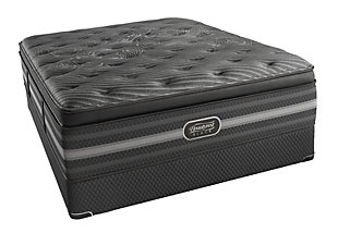 Beautyrest Black Beautyrest Black Natasha Plush Pillow Top Queen Mattress, Black/Gray, large