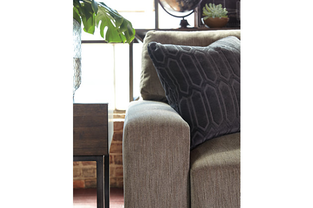 See the Precise Detail in the Gray Smoke Couch from the Entwine Collection