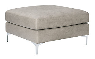 Ryler Oversized Accent Ottoman, Steel, large