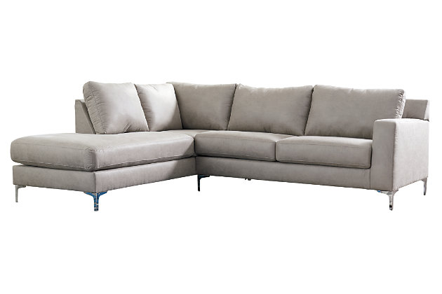 Ryler 2-Piece Sectional with Chaise, Steel, large