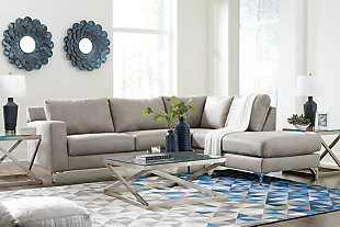 Ryler 2-Piece Sectional with Chaise, Steel, rollover