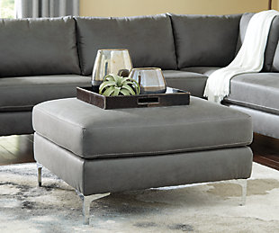 Ryler Oversized Accent Ottoman, Charcoal, large