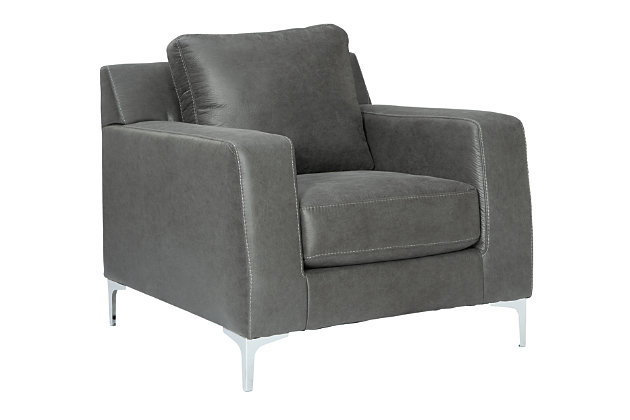 Ryler Chair, Charcoal, large