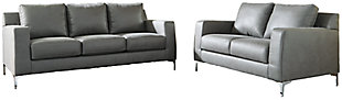 Ryler Sofa and Loveseat, Gray, large