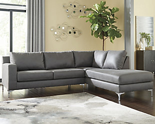 Ryler 2-Piece Sectional with Chaise, Charcoal, large