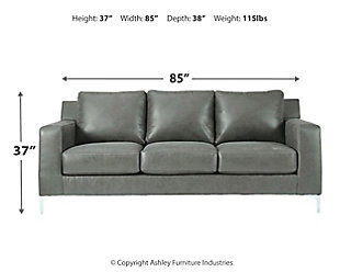 Ryler Sofa, Charcoal, large