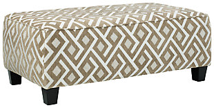 Dovemont Oversized Accent Ottoman, , large