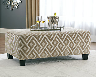 Dovemont Oversized Accent Ottoman, , rollover