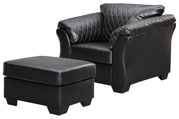 Betrillo Chair and Ottoman, , large