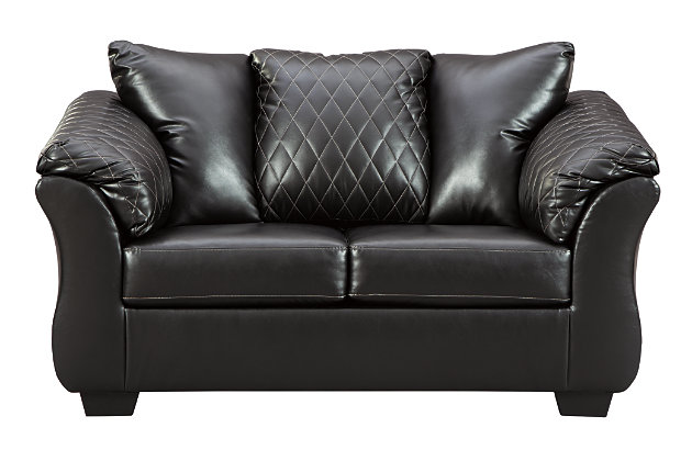 Betrillo Loveseat, Black, large