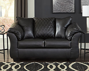 Betrillo Loveseat, Black, rollover