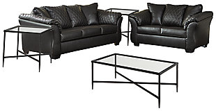 Betrillo Sofa and Loveseat with Coffee Table and 2 End Tables, , large