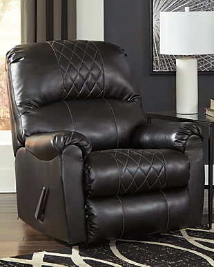 Betrillo Recliner, Black, rollover