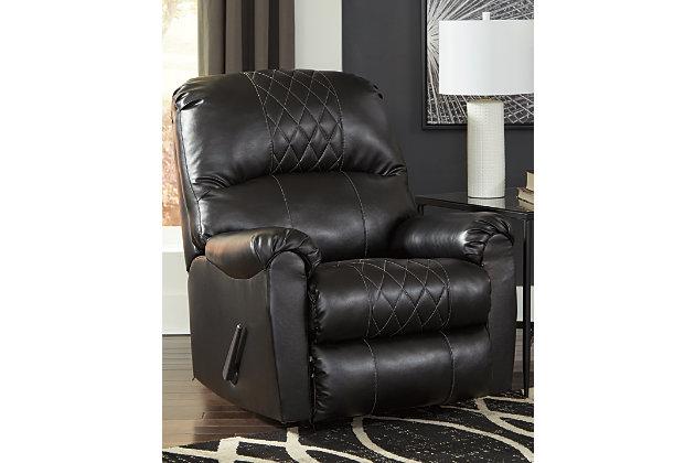 Betrillo Recliner, Black, large