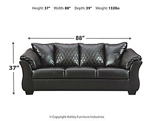Betrillo Sofa, Black, large
