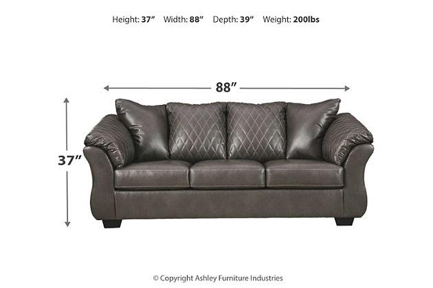 Betrillo Full Sofa Sleeper, Gray, large