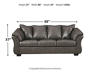 Betrillo Sofa, Gray, large
