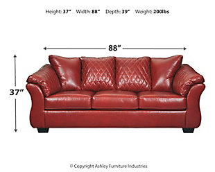 Betrillo Full Sofa Sleeper, Salsa, large