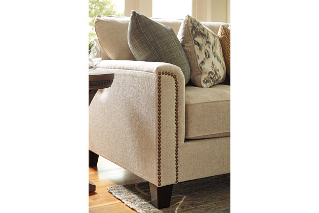 nailhead trim detail of the kieman sectional sofa set