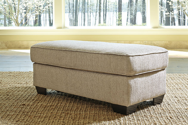 Baxley Ottoman by Ashley HomeStore, Tan, Polyester (100 %)