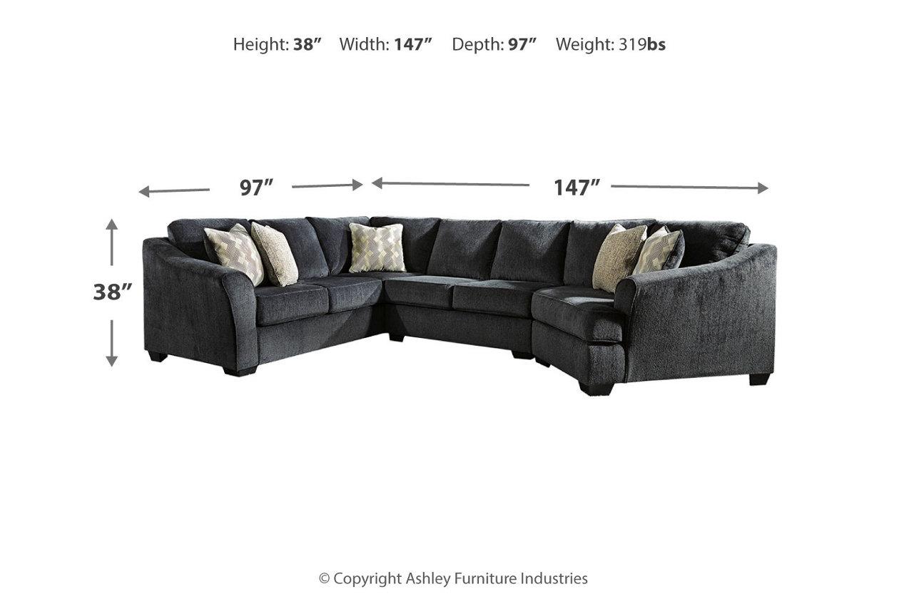 Eltmann 3-Piece Sectional with Cuddler | Ashley Furniture ...