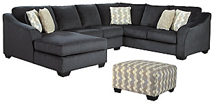 Eltmann 3-Piece Sectional with Ottoman, , large