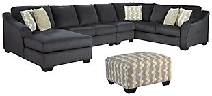 Eltmann 4-Piece Sectional with Ottoman, , large