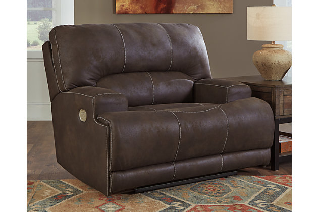 Kitching Oversized Dual Power Recliner, Ashley Furniture Power Recliner