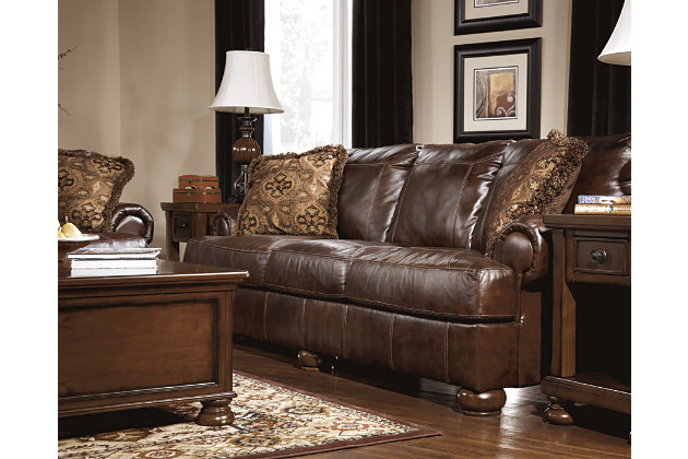 Axiom sofa ashley furniture homestore for Ashley leather sofa