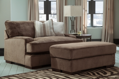 Fielding Oversized Chair and Ottoman, , large