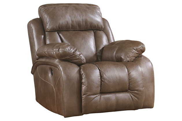 Brown Loral Recliner by Ashley HomeStore, Polyester/Polypurethane